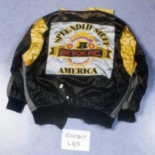 A jacket seized from Gary Dobson's home