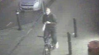 CCTV image of a cyclist