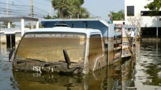 Truck in Navanakorn Industrial Estate