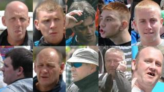 CCTV images of 10 men West Yorkshire Police want to trace