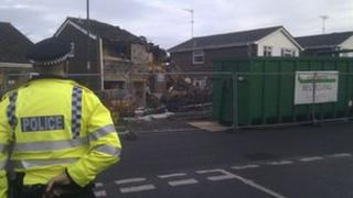 Police cordon. Picture - BBC's Matt Treacy