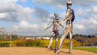 Strabane dancer statue