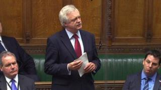 MP David Davis speaking in the House of Commons