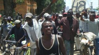 Alphonse Awenze Makiaba on the campaign trail (November 2011)