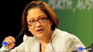 Trinidad and Tobago Prime Minister Kamla Persdad-Bissessar, 30 October 2011