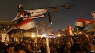 Protest in Tahrir Square. 24 Nov 2011