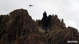 Scene of the crash in the Superstition Mountains