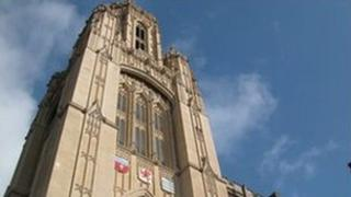 Wills building at the University of Bristol