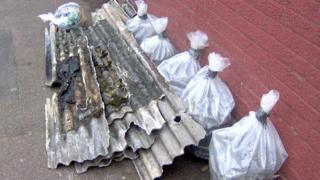 Asbestos bags dumped in Leicester