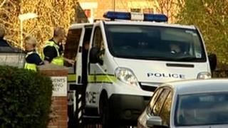 Police van at scene of attack