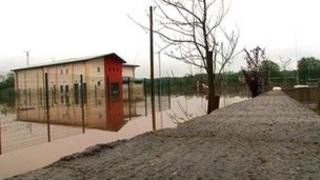 Beragh GAA hall under water
