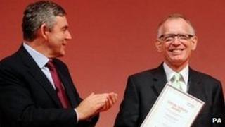 Gordon Brown and Philip Gould