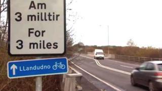 A470 close to A55 at Llandudno Junction