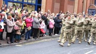 Mercian Regiment homecoming parade