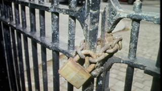 Locked gates