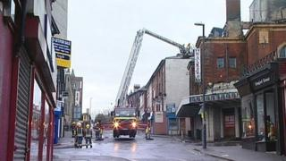Fire crews attend fire at the Hippodrome