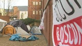 Boscombe Occupy protest