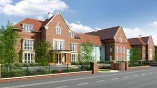 A computer generated image of the new care home to be built on the site of the former Linden House in Lymington