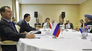BRICS leaders on the sidelines of the G20 summit in Cannes