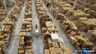 Amazon warehouse in Swansea, Wales