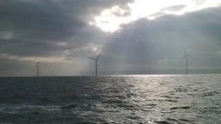 Wind turbines at Rhyl Flats