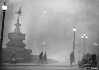 London smog in 1952