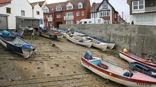 Sheringham fishing boat launch point, north Norfolk