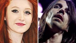 Janet Devlin and Anthony Kiedis of the Red Hot Chili Peppers