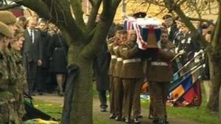 Funeral of Pte Matthew Thornton, Darton, South Yorkshire