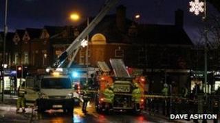 Storm damage in Heaton Moor