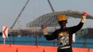 Sri Lankan construction worker