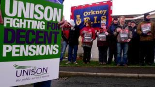 Kirkwall Grammar School protest