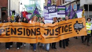 The protest march in Blackburn