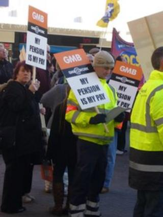 Public sector strike in Southend