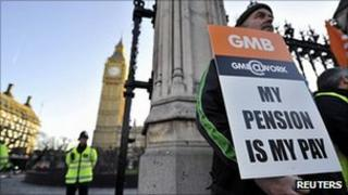 GMB picket outside Parliament