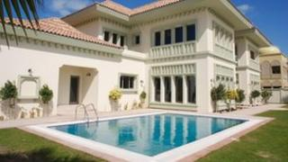 A mansion in Dubai owned by the husband of Olga Stepanova