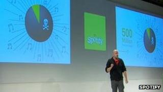 Daniel Ek at Spotify event