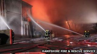 Basingstoke warehouse fire