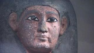 A 3,500 year old Egyptian coffin discovered in a Devon museum