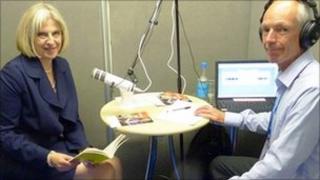 Theresa May and Melvyn Toms