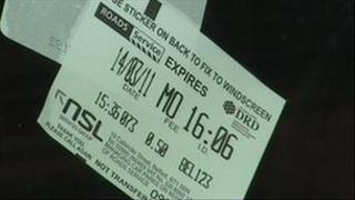 street parking ticket