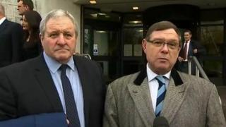 Thomas Page (l) and his barrister Gregory Bull, QC