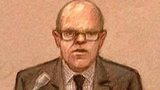 court artists impression of Edward Jarman