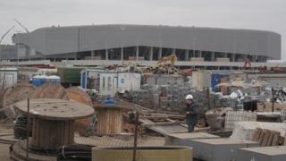 The area around Lviv stadium (November 2011)