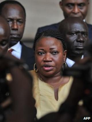 Fatou Bensouda in Abidjan on 28 June 2011