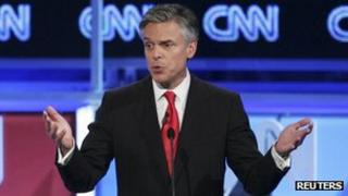 Jon Huntsman at CNN televised debate 22 November 2011