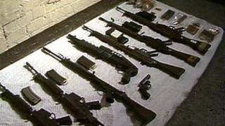 Guns used in Loughgall attack