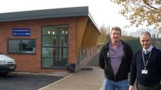 (L to R) Lecturer Peter Creagh and Chris Jones, head of land based studies, at the new engineering centre
