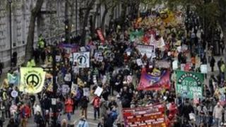 Marchers in London