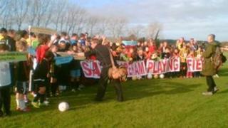 Protesters in Wareham